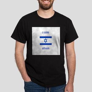 I love Israel Black T-Shirt