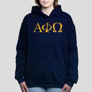 Alpha Phi Omega Letters Women's Hooded Sweatshirt
