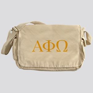 Alpha Phi Omega Letters Yellow Messenger Bag