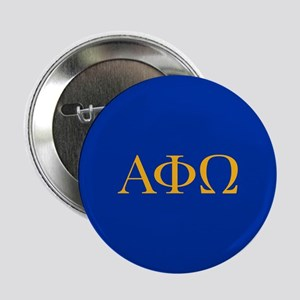"Alpha Phi Omega Letters Yellow 2.25"" Button"