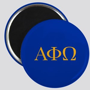 Alpha Phi Omega Letters Yellow Magnet