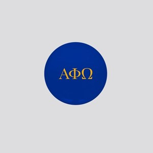 Alpha Phi Omega Letters Yellow Mini Button