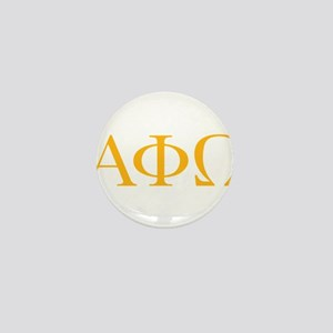 Alpha Phi Omega Letters Yel Mini Button (100 pack)