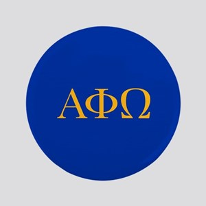Alpha Phi Omega Letters Yellow Button