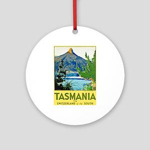 Tasmania Travel Poster 1 Ornament (Round)
