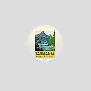 Tasmania Travel Poster 1 Mini Button