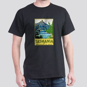 Tasmania Travel Poster 1 Dark T-Shirt