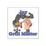 Grill Master Jay Square Sticker 3
