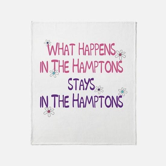 What Happens in the Hamptons Throw Blanket