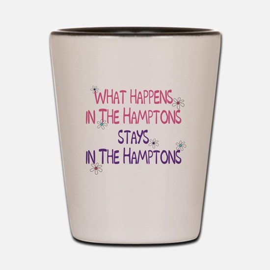 What Happens in the Hamptons Shot Glass