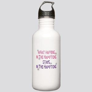What Happens in the Hamptons Stainless Water Bottl