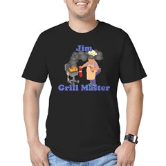 Grill Master Jim Men's Fitted T-Shirt (dark)