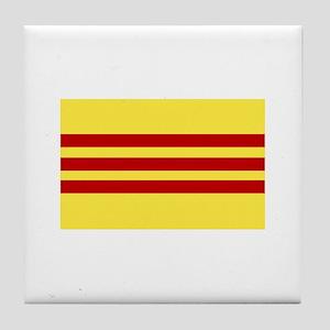 Flag of Vietnam Tile Coaster