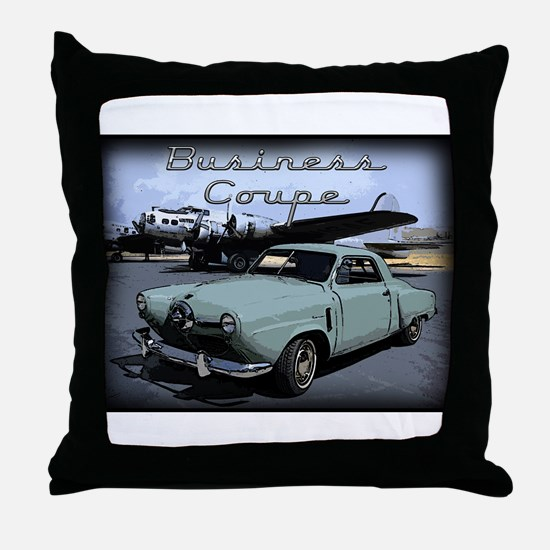 Business Coupe Throw Pillow