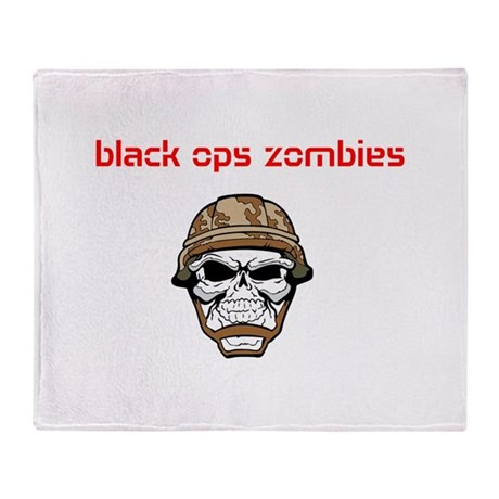 black ops zombies t-shirt Throw Blanket