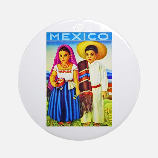 Mexico Travel Poster 12 Ornament (Round)