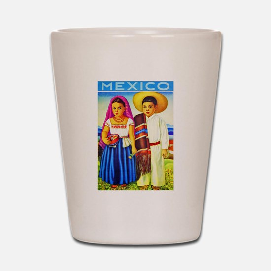 Mexico Travel Poster 12 Shot Glass