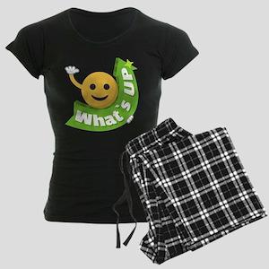 Emoji Smiley What's Up Women's Dark Pajamas