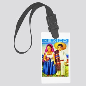 Mexico Travel Poster 12 Large Luggage Tag