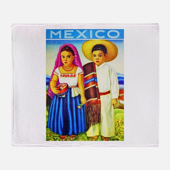 Mexico Travel Poster 12 Throw Blanket