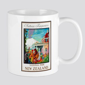 New Zealand Travel Poster 4 Mug
