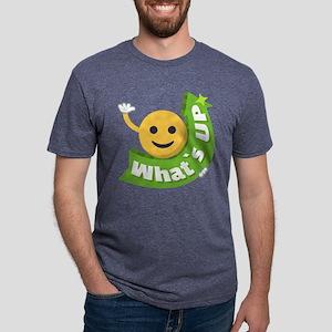 Emoji Smiley What's Up Mens Tri-blend T-Shirt