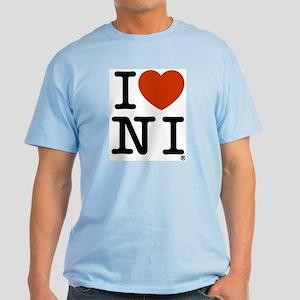 I Love Northern Ireland Light T-Shirt