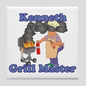 Grill Master Kenneth Tile Coaster