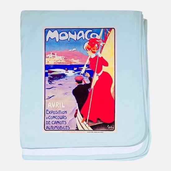 Monaco Travel Poster 1 baby blanket
