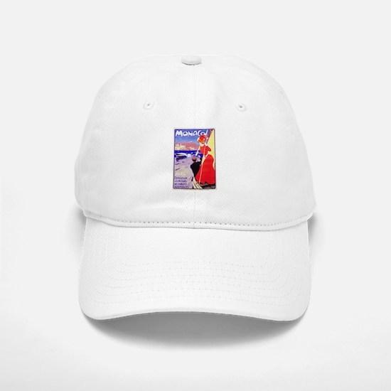 Monaco Travel Poster 1 Baseball Baseball Cap