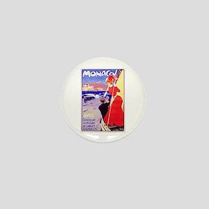 Monaco Travel Poster 1 Mini Button