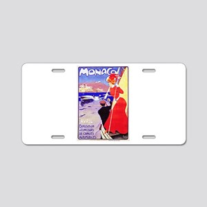 Monaco Travel Poster 1 Aluminum License Plate