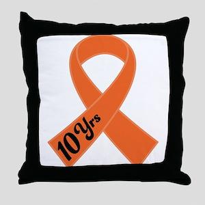 10 Year Leukemia Survivor Throw Pillow