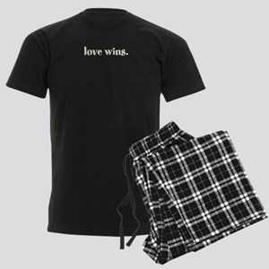 Love Wins Men's Dark Pajamas