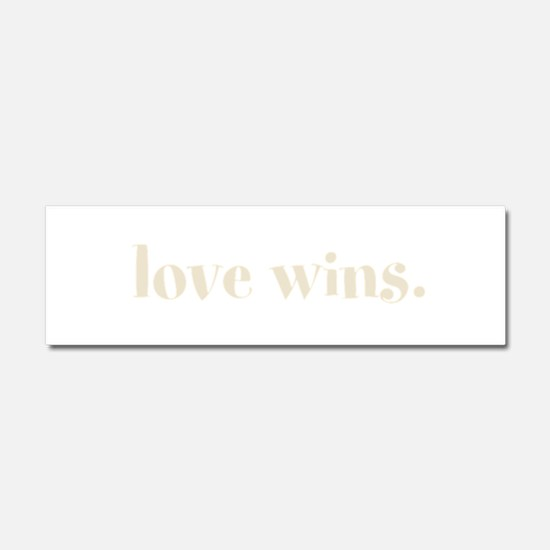 Love Wins Car Magnet 10 x 3