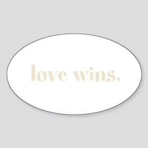 Love Wins Sticker (Oval)