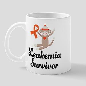 Leukemia Survivor Sock Monkey Mug