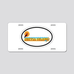 Jekyll Island GA - Oval Design. Aluminum License P