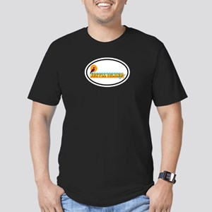 Jekyll Island GA - Oval Design. Men's Fitted T-Shi
