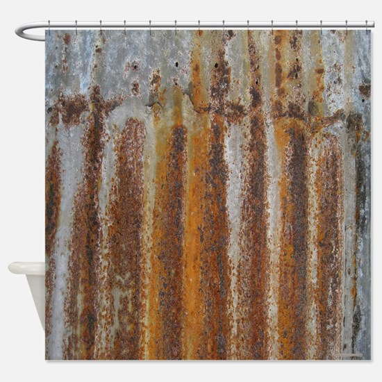 Rusty Tin Shower Curtain