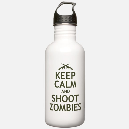 Keep Calm and Shoot Zombies Water Bottle