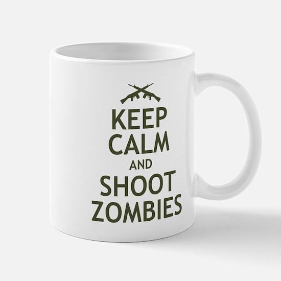 Keep Calm and Shoot Zombies Mug