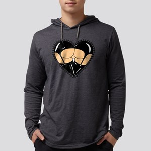 Latex Butt Mens Hooded Shirt