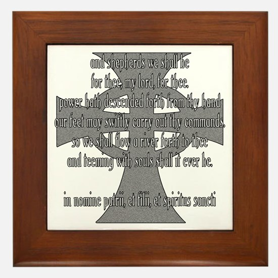 Brothers Creed Framed Tile