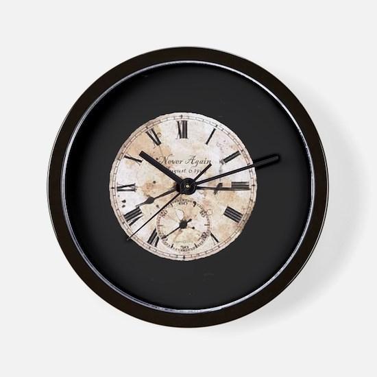 Hiroshima - Never Again Wall Clock