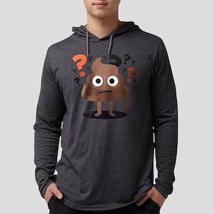 Emoji Poop Confused Mens Hooded Shirt