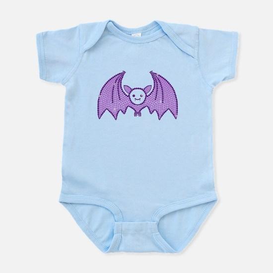 Cute Rhinestone Bat Body Suit
