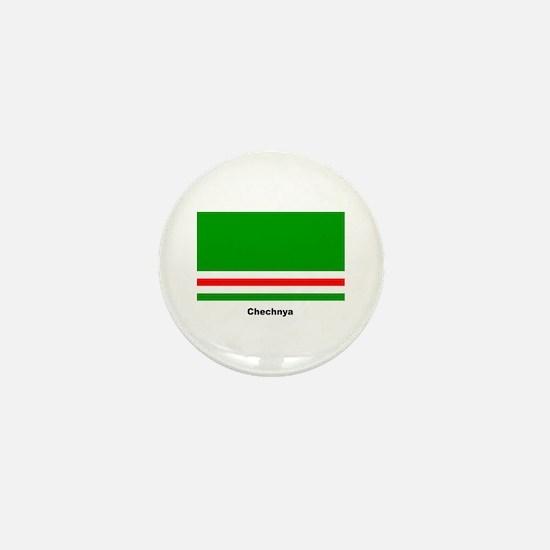 Chechan Chechnya Flag Mini Button