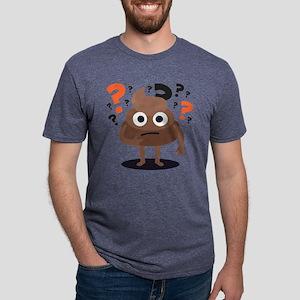Emoji Poop Confused Mens Tri-blend T-Shirt