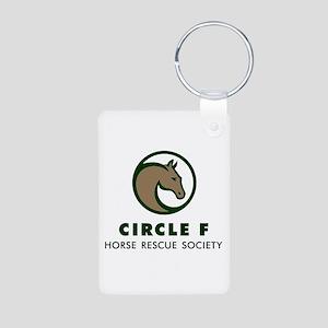 Circle F logo Aluminum Photo Keychain
